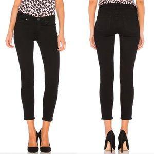 Paige Verdugo Crop Jeans In Black Overdye 28